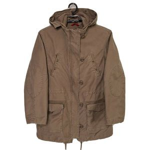Mens Gap Utility Jacket Large Brown Canvas Field